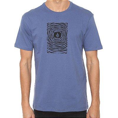 Camiseta Volcom Silk Engulf Azul Marinho