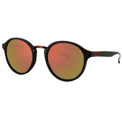 Óculos de Sol HB Brighton Matte Black D. Red | Red Chrome