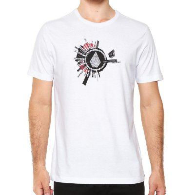 Camiseta Volcom Silk Slim Radiate Branco