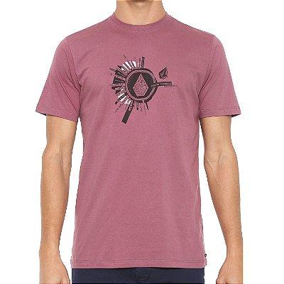 Camiseta Volcom Silk Slim Radiate Vinho