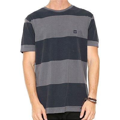 Camiseta Hang Loose Especial Blockstripe Cinza/Preto