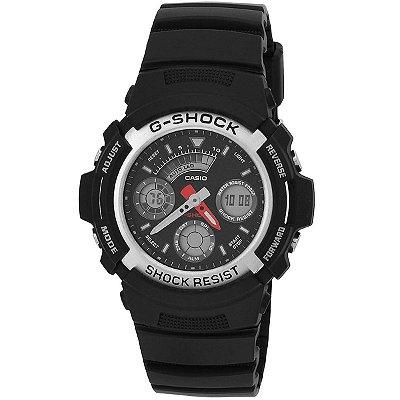 Relógio G-Shock AW-590-1ADR Preto/Prata