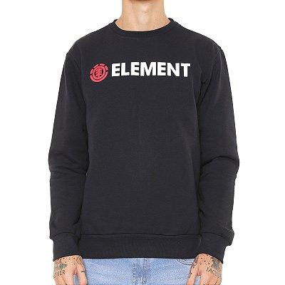 Moletom Element Basic Essencial Preto