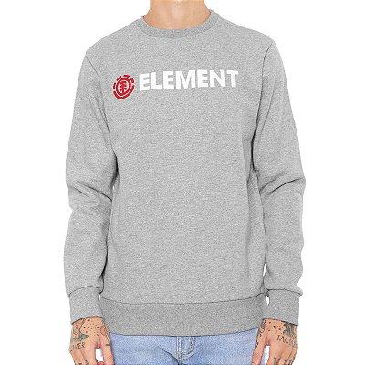 Moletom Element Basic Essencial Cinza