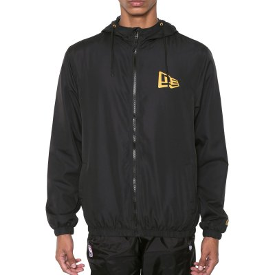 Jaqueta New Era Windbreaker Basic Essentials Flag Preto