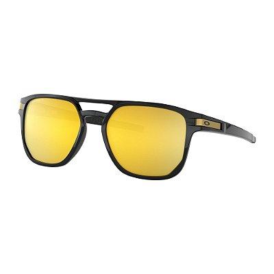 Óculos de Sol Oakley Latch Beta Polished Black W/ Prizm 24k Polarized