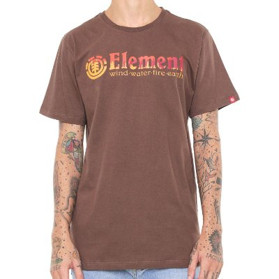 Camiseta Element Glimpe Horizontal Marrom