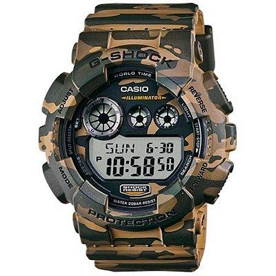 Relógio G-Shock GD-120CM-5DR Marrom/Verde