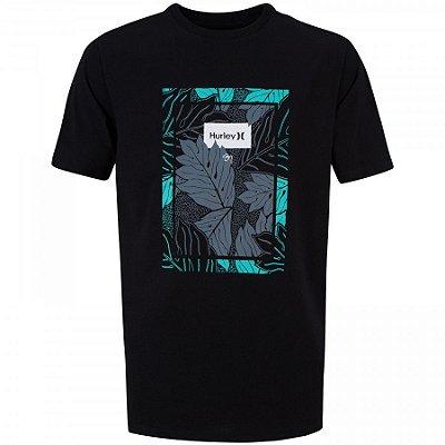 Camiseta Hurley Silk Ululoa Sig Zane Preta