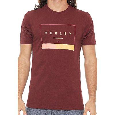Camiseta Hurley Silk Off The Press Vinho