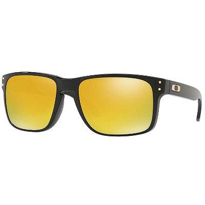Óculos de Sol Oakley Holbrook Polished Black W/ 24k Iridium