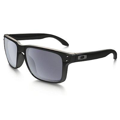Óculos de Sol Oakley Holbrook Polished Black W/ Grey Polarized