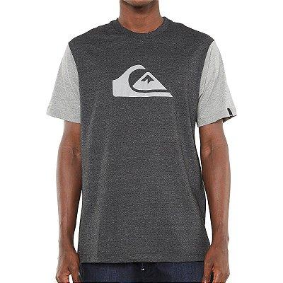 Camiseta Quiksilver M&W Bicolor Cinza