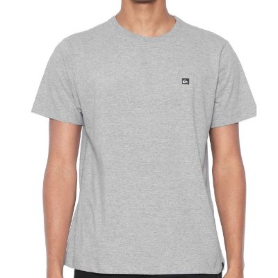Camiseta Quiksilver Slim Transfer Cinza