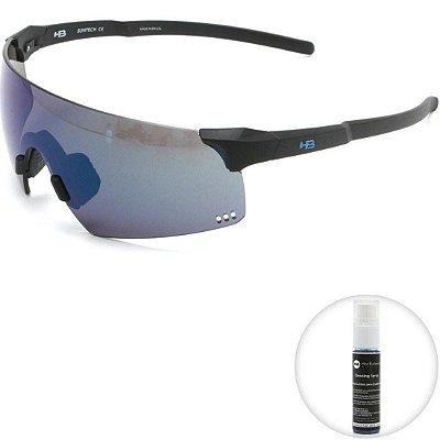 Óculos de Sol HB Quad R Matte Black l Blue Chrome