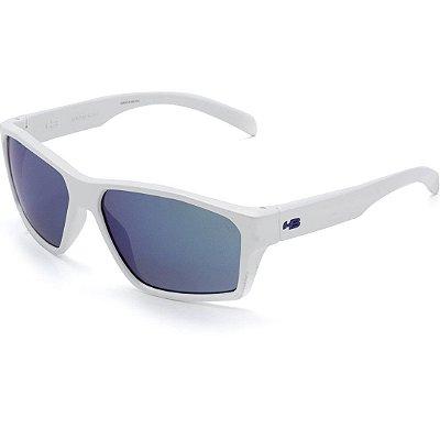 Óculos de Sol HB Stab Pearled White I Blue Chrome