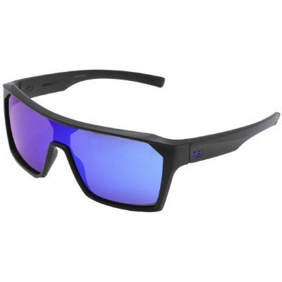 Óculos de Sol HB Carvin 2.0 Matte Black l Blue Chrome