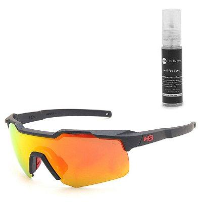 Óculos de Sol HB Shield Matte Navy l Multi Red