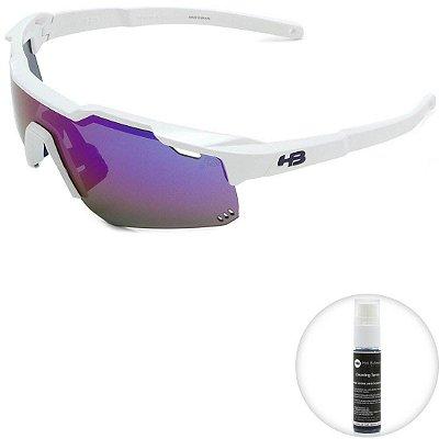 Óculos de Sol HB Shield Pearled White l Multi Purple
