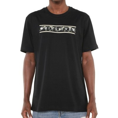 Camiseta Quiksilver Daily Camo Preta