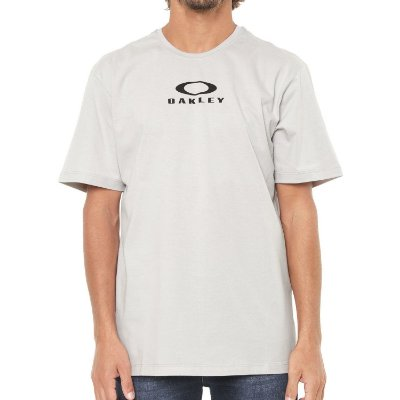 Camiseta Oakley Bark New Cinza Claro
