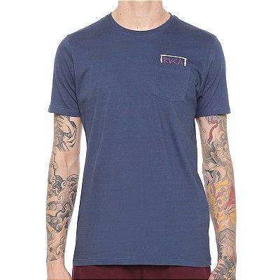 Camiseta RVCA Blocker SS Tee Azul Marinho