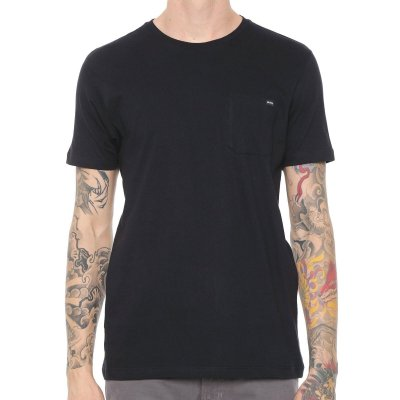 Camiseta RVCA Basic Pocket Preta