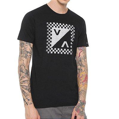 Camiseta RVCA Check Mate Preta