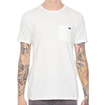 Camiseta RVCA Basic Pocket Off White