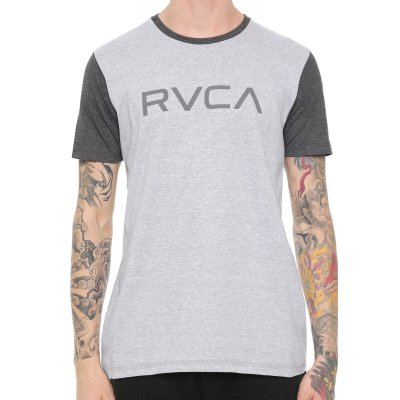 Camiseta RVCA Big Color Cinza/Cinza Escuro