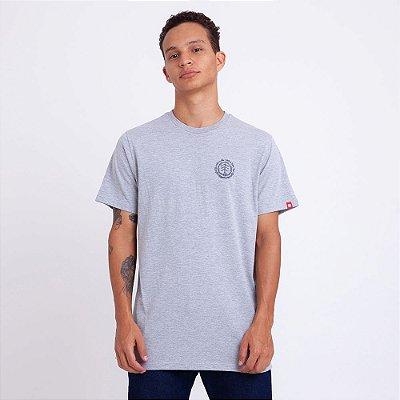 Camiseta Element Too Late Logo Cinza