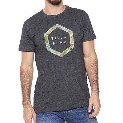 Camiseta Billabong Access Border II Cinza Escuro