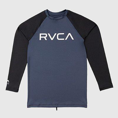 Lycra Rashguard RVCA Manga Longa Big RVCA Bicolor Cinza/Preta