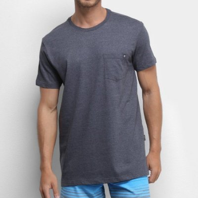 Camiseta Billabong Simple Pocket Cinza Escuro