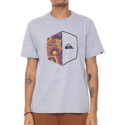 Camiseta Quiksilver Galactic Heart Cinza