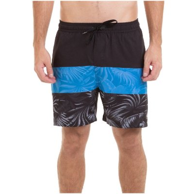 Bermuda Quiksilver Boardshort Multiply Volley 18 Preto