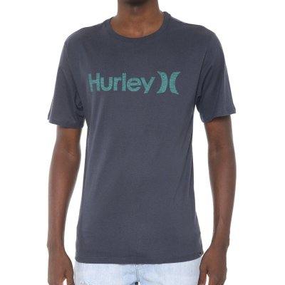 Camiseta Hurley Silk O&O Push Throught Azul Marinho