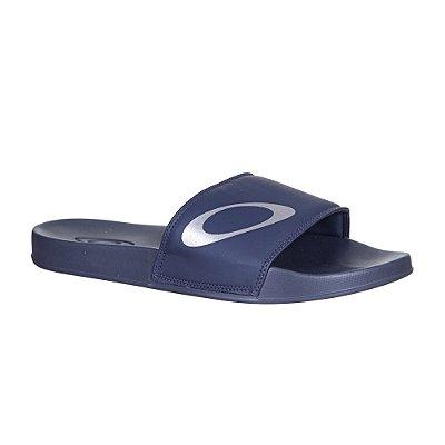 Chinelo Slide Oakley Malibu Azul Marinho