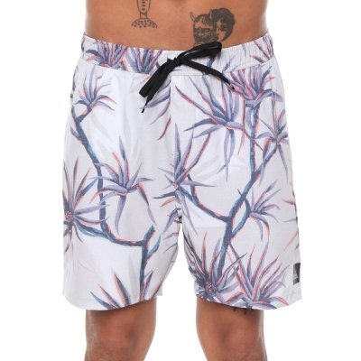 Bermuda Quiksilver Boardshort Salty Palms Volley 18 Off White