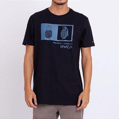 Camiseta RVCA Pineapple Grenade Box Preta