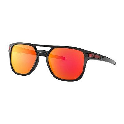Óculos de Sol Oakley Latch Beta Polished Black W/ Prizm Ruby