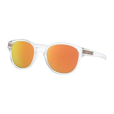 Óculos de Sol Oakley Latch Matte Clear W/ Prizm Rose Gold Polarized