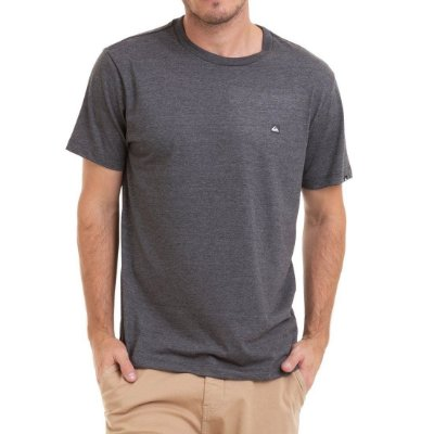 Camiseta Quiksilver Chest Transfer Color Cinza Escuro