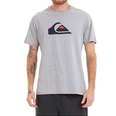 Camiseta Quiksilver Comp Logo Cinza