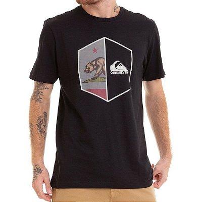 Camiseta Quiksilver California Shield Preta