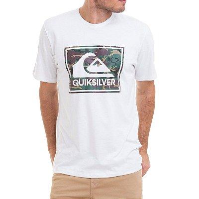 Camiseta Quiksilver Camo Architexture Branca