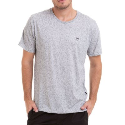 Camiseta Quiksilver Super Transfer Originals Cinza