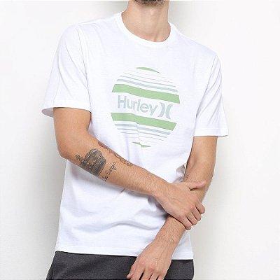 Camiseta Hurley Silk Circle Sunset Branca