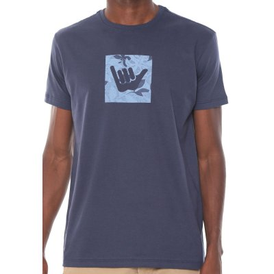Camiseta Hang Loose Silk Monstera Azul Marinho
