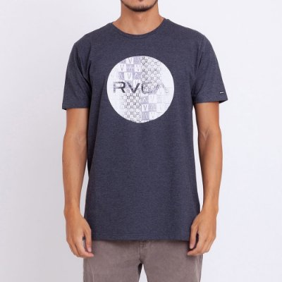 Camiseta RVCA Motors Mix Cinza Escuro